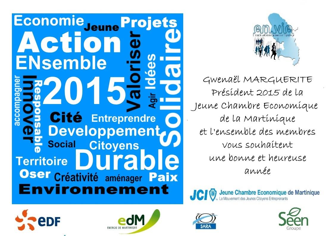 carte de voeux 2015 JCE Martinique membres